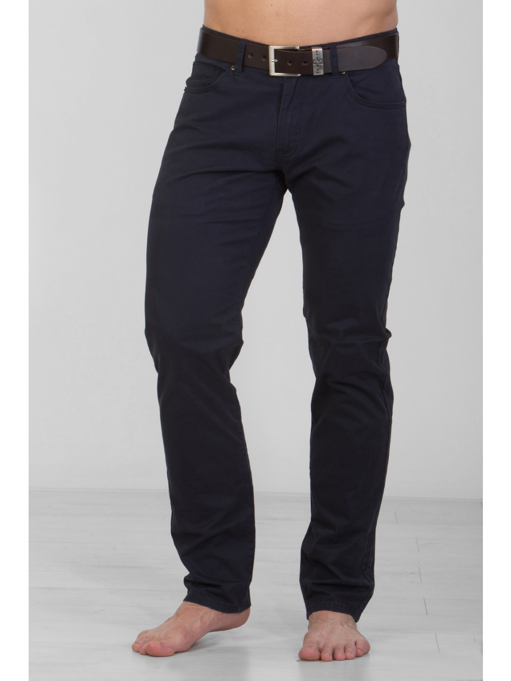 Mens Stretch Slim Fit CHINOS JSM248 - navy