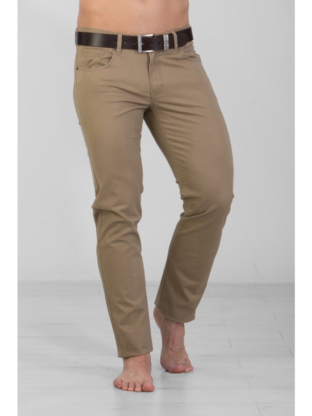 Mens Stretch Slim Fit CHINOS JSM248 - beige