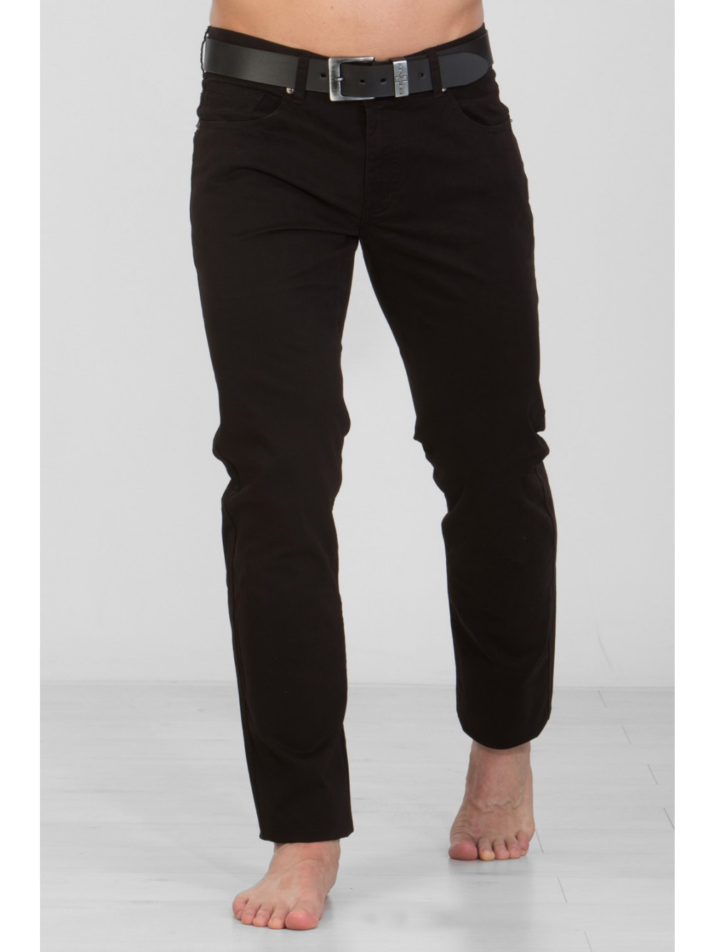 Mens Stretch Slim Fit CHINOS JSM248 - black