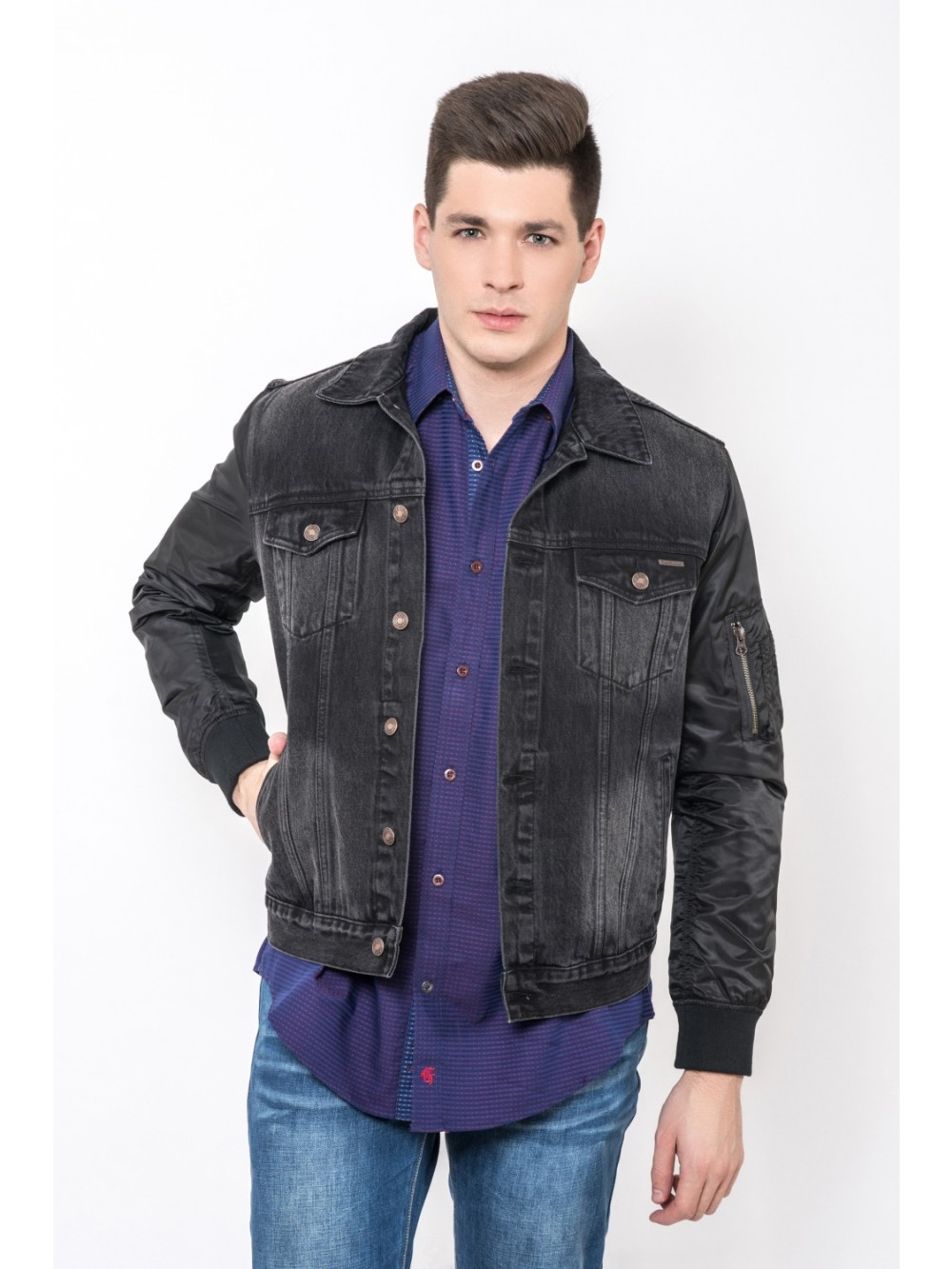 Mens Denim Jacket EAGLE JAC274 - black