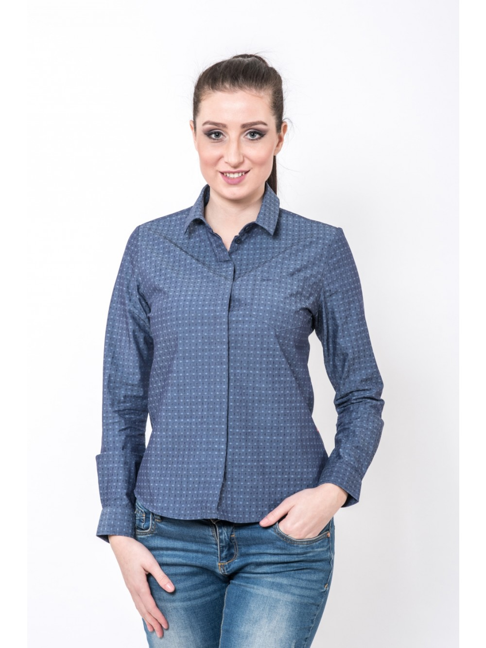Womens shirt DANIKA SHW250 stretch - blue