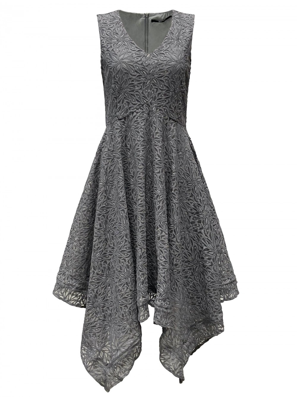 Lace dress Mona grey
