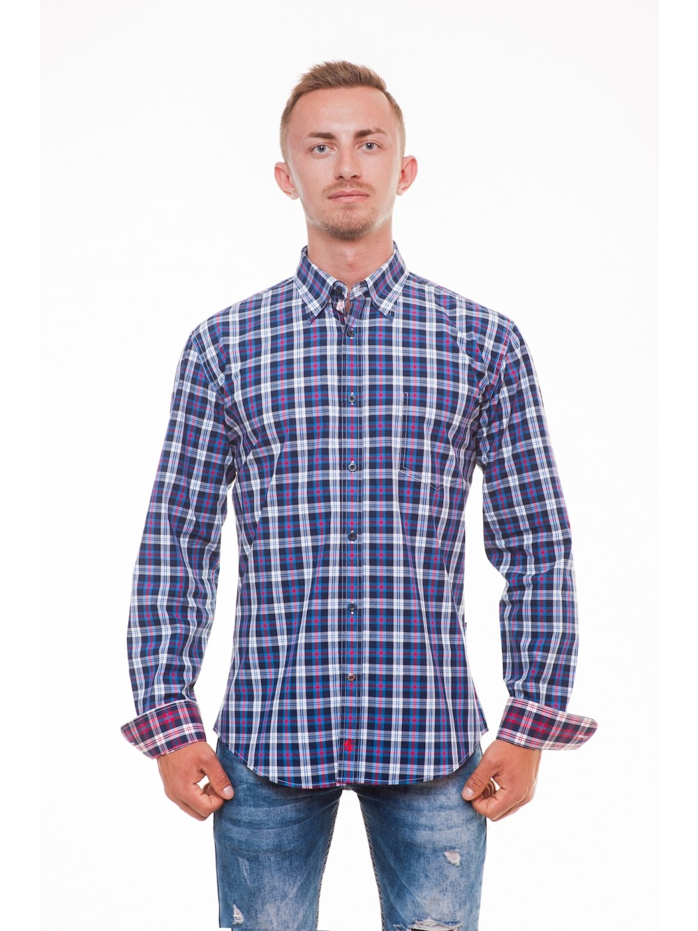 Mens Shirt Slim fit  PAULI - blue color