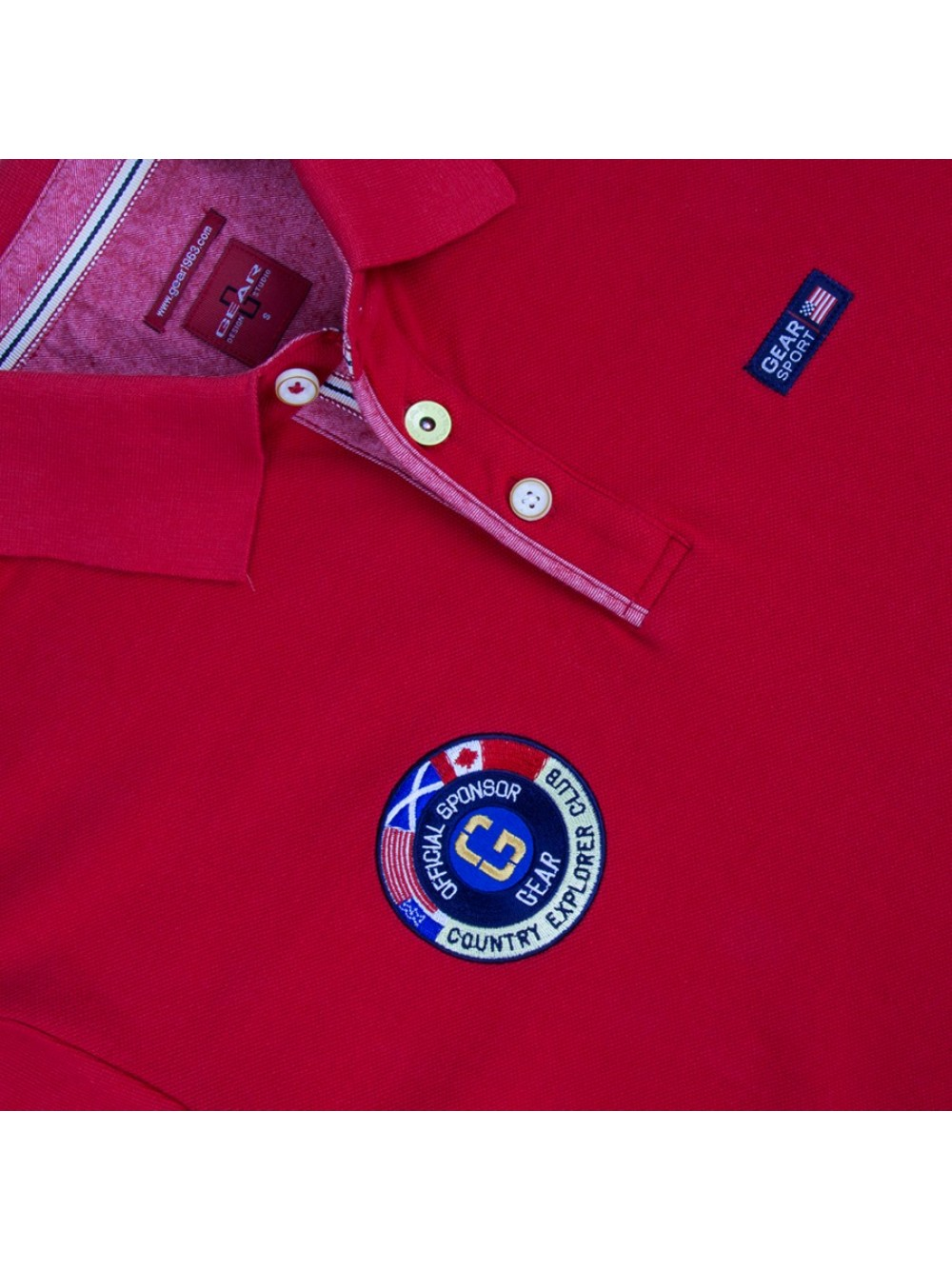 Mens Cotton Pique Polo Shirt COBRA - red