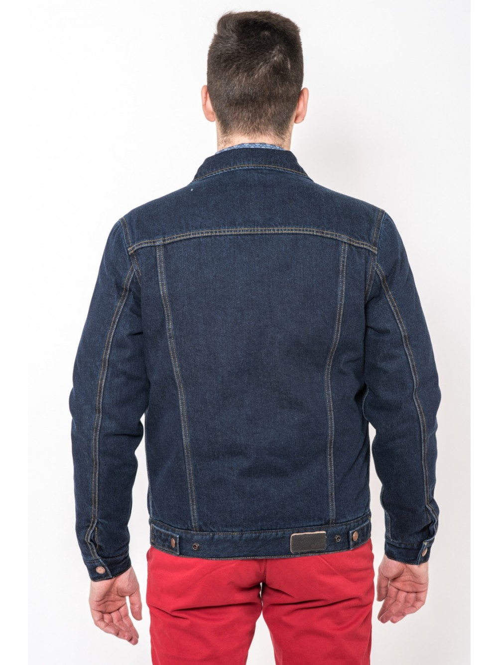 Mens denim/down Jacket THAYAGO JAC278 blue
