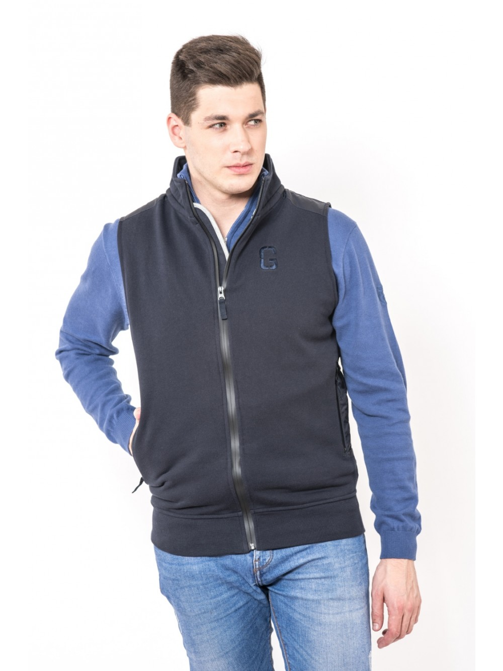 Men's vest MARINA STS391 - navy