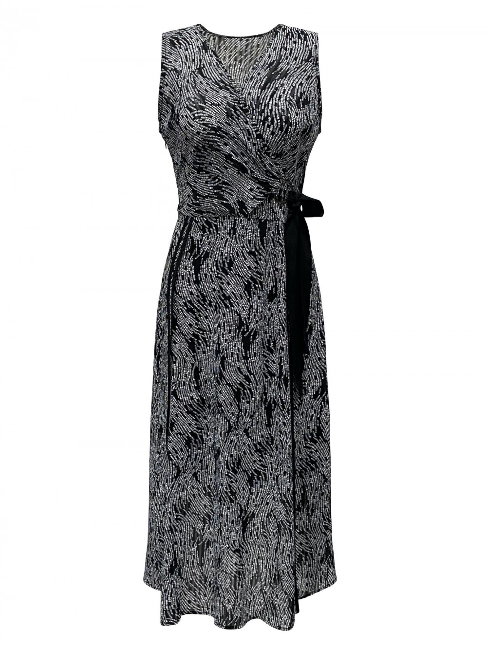 Dress RIVA black/white