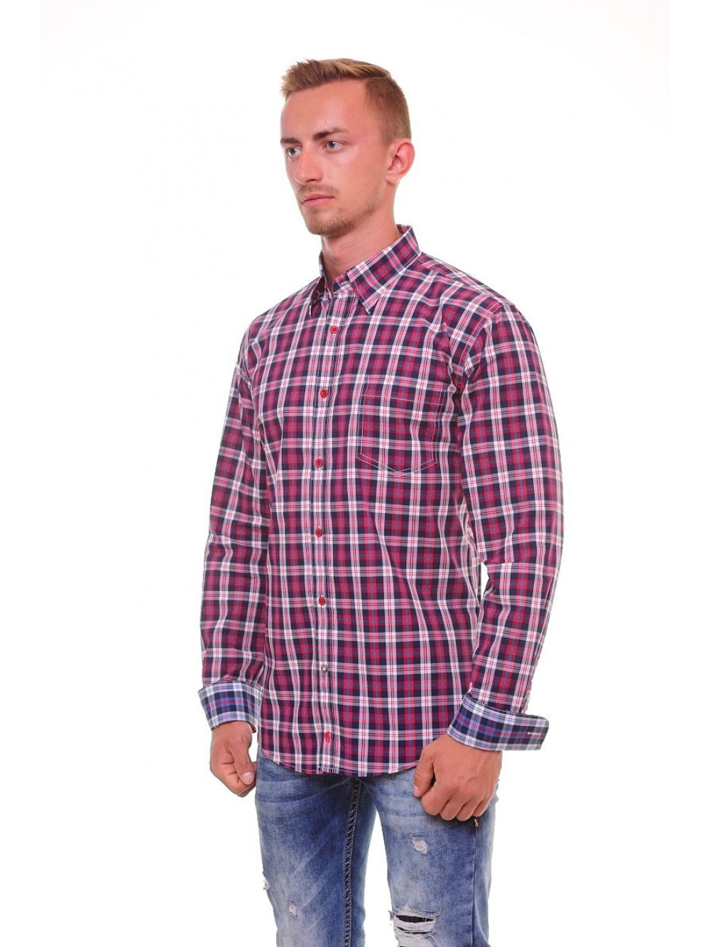 Mens shirt slim fit  PACO - red