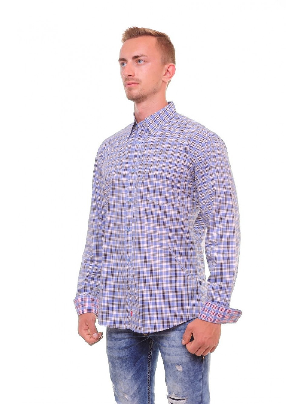 Mens Slim fit Shirts DOMENICO - blue