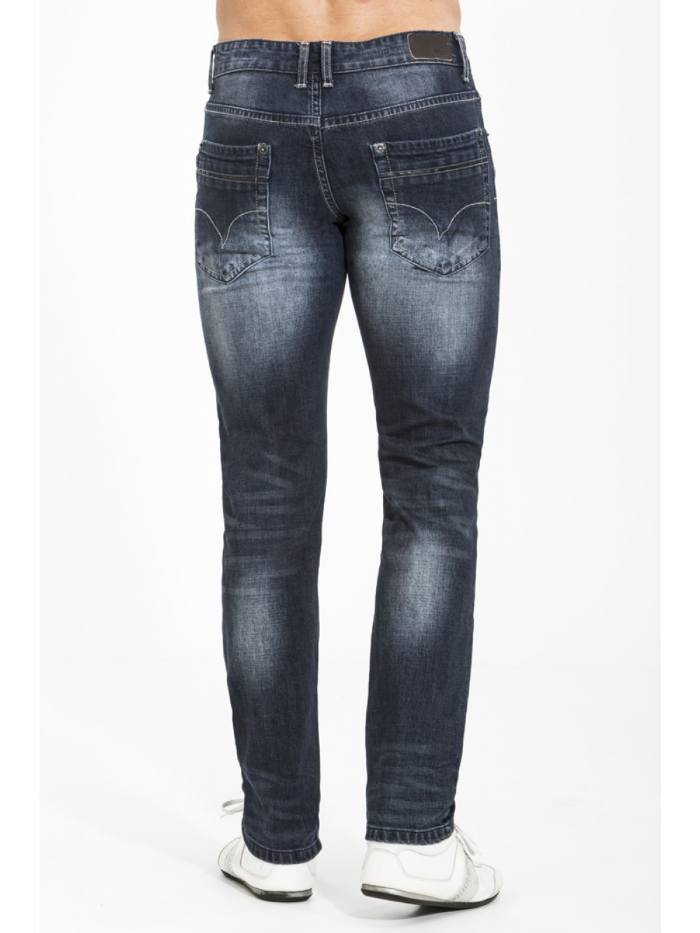 Stretch Denim Jeans JSM253 super slim G489 dark blue