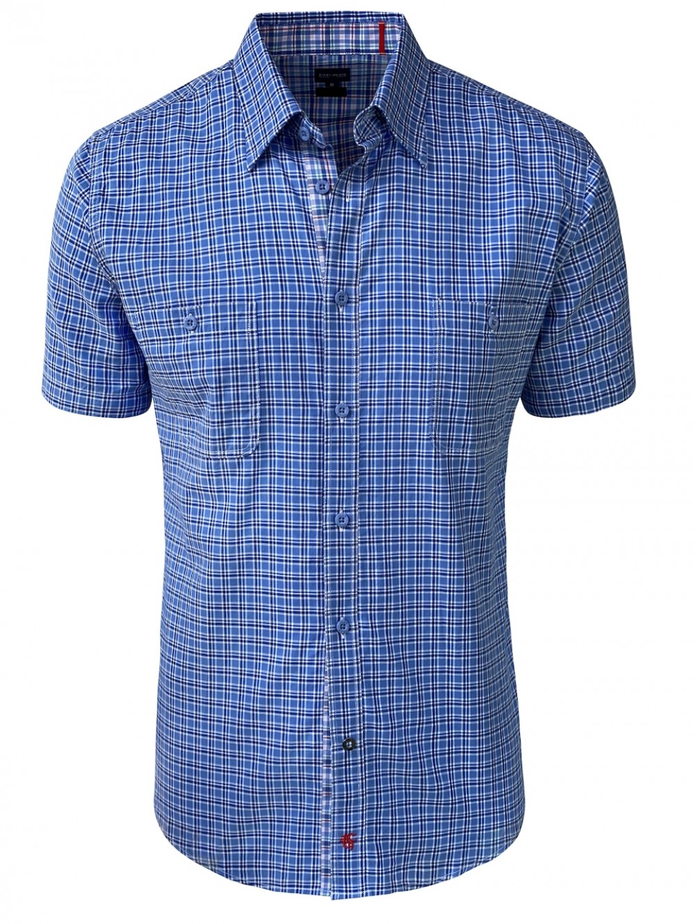 Mens Slim Fit Shirt CRISTIAN SHM1298 blue