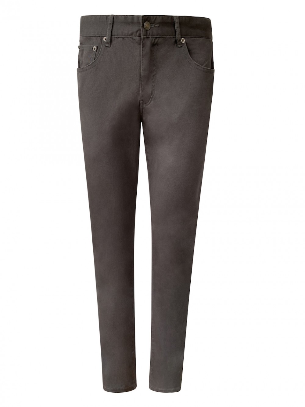 Mens Cotton Twill Chinos JSM309 charcoal grey