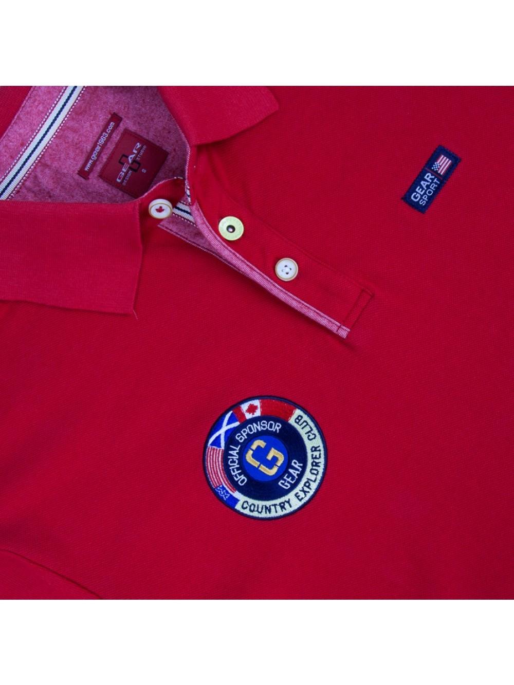 Pánská polokošile z bavlněného piké COBRA - červená