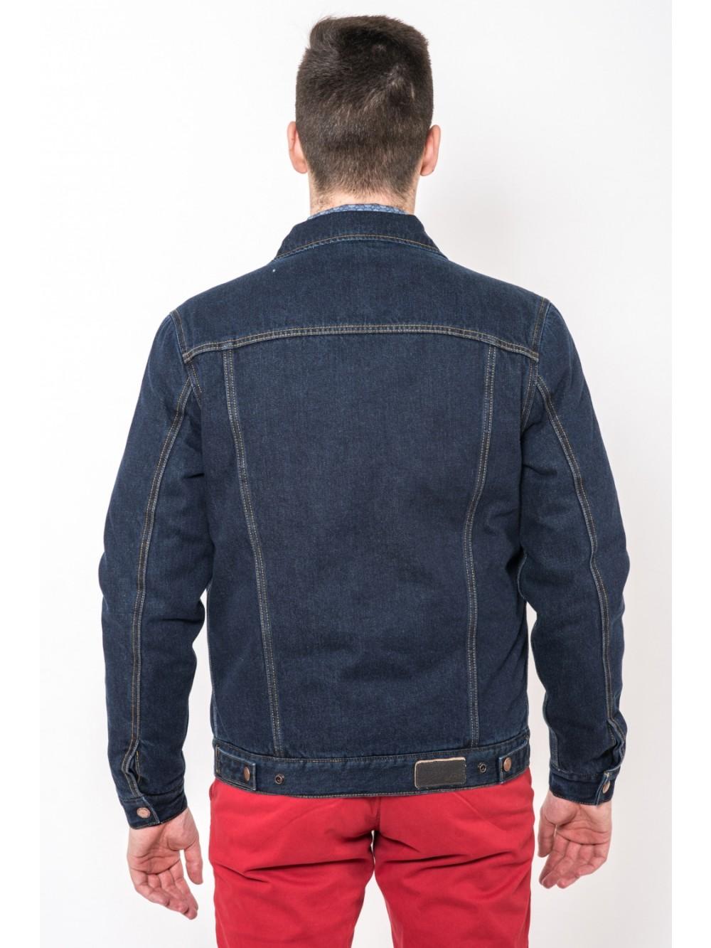 Džínová bunda s péřovou vyplní THAYAGO JAC278 modrá