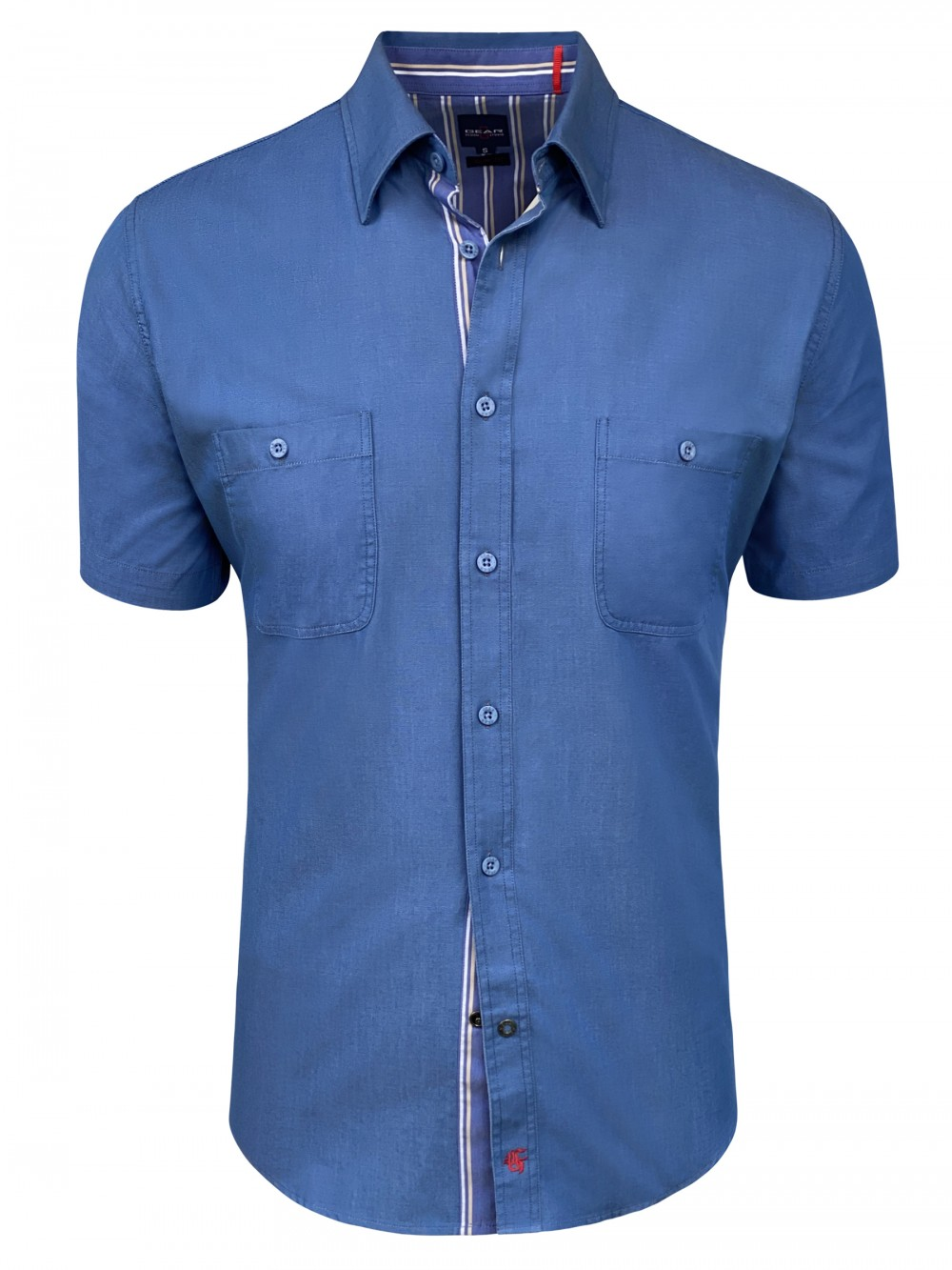 Mens Slim fit Shirt GIUSEPPE SHM1301 blue