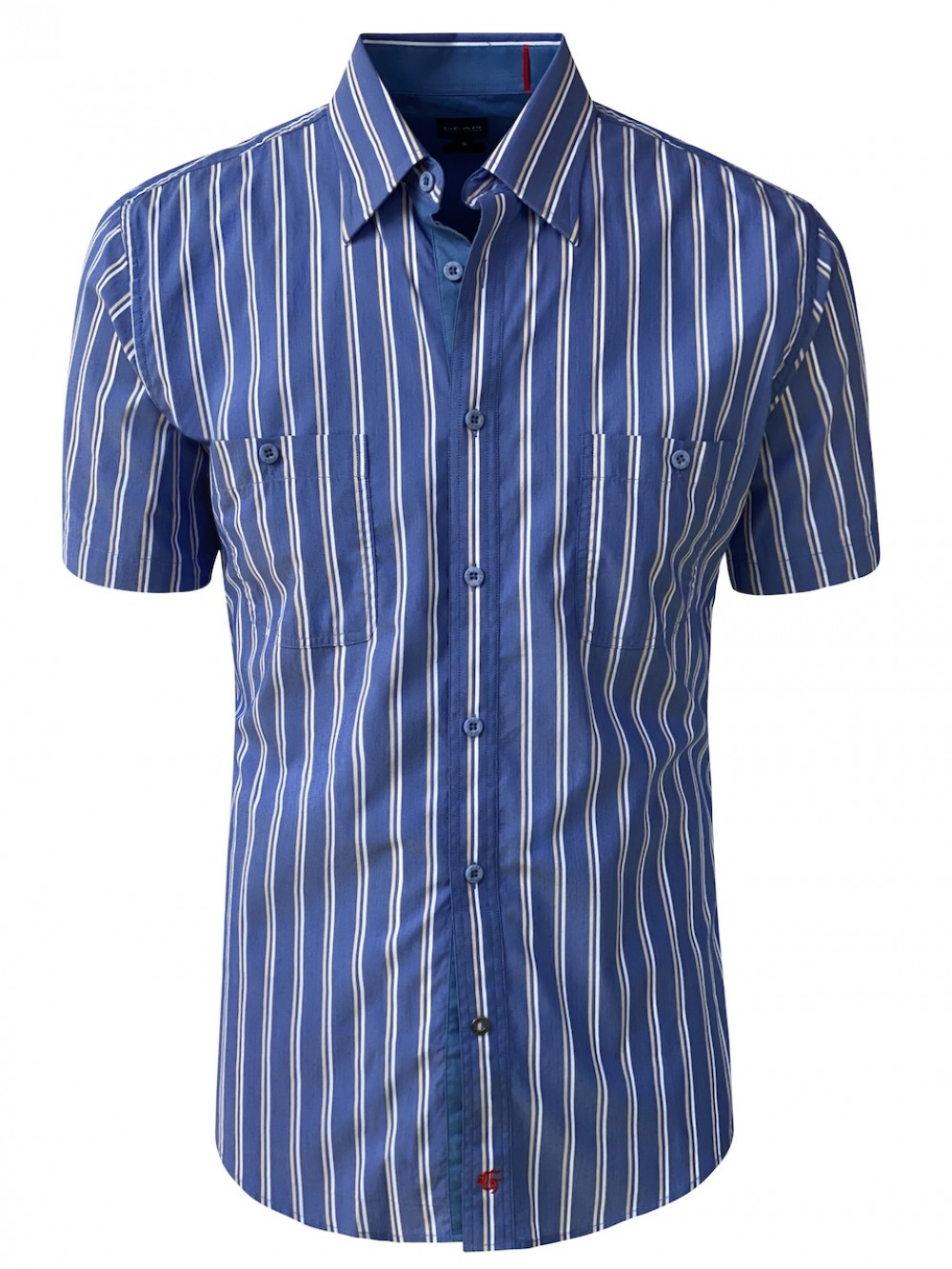 Mens Slim fit shirt RAFFAELE SHM1302 medium blue