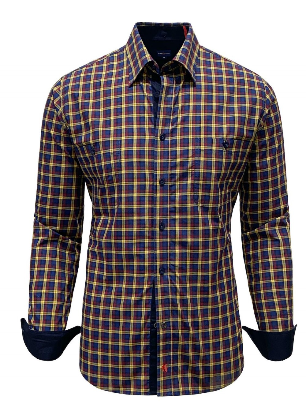 Košile RIONE SHM1310 slim fit žlutá