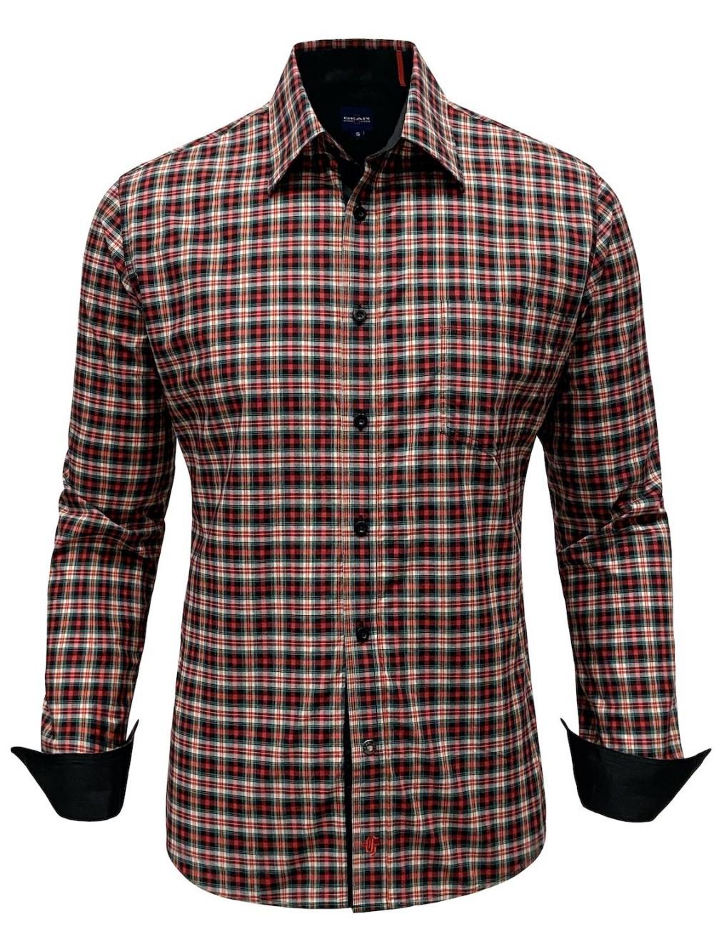 Košile MOSTRA SHM1308 slim fit červená