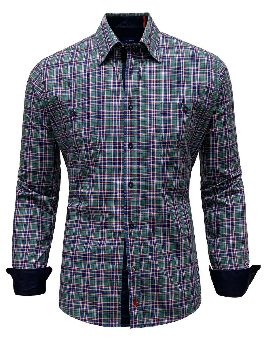 Košile MATERDEI SHM1307 slim fit zelená